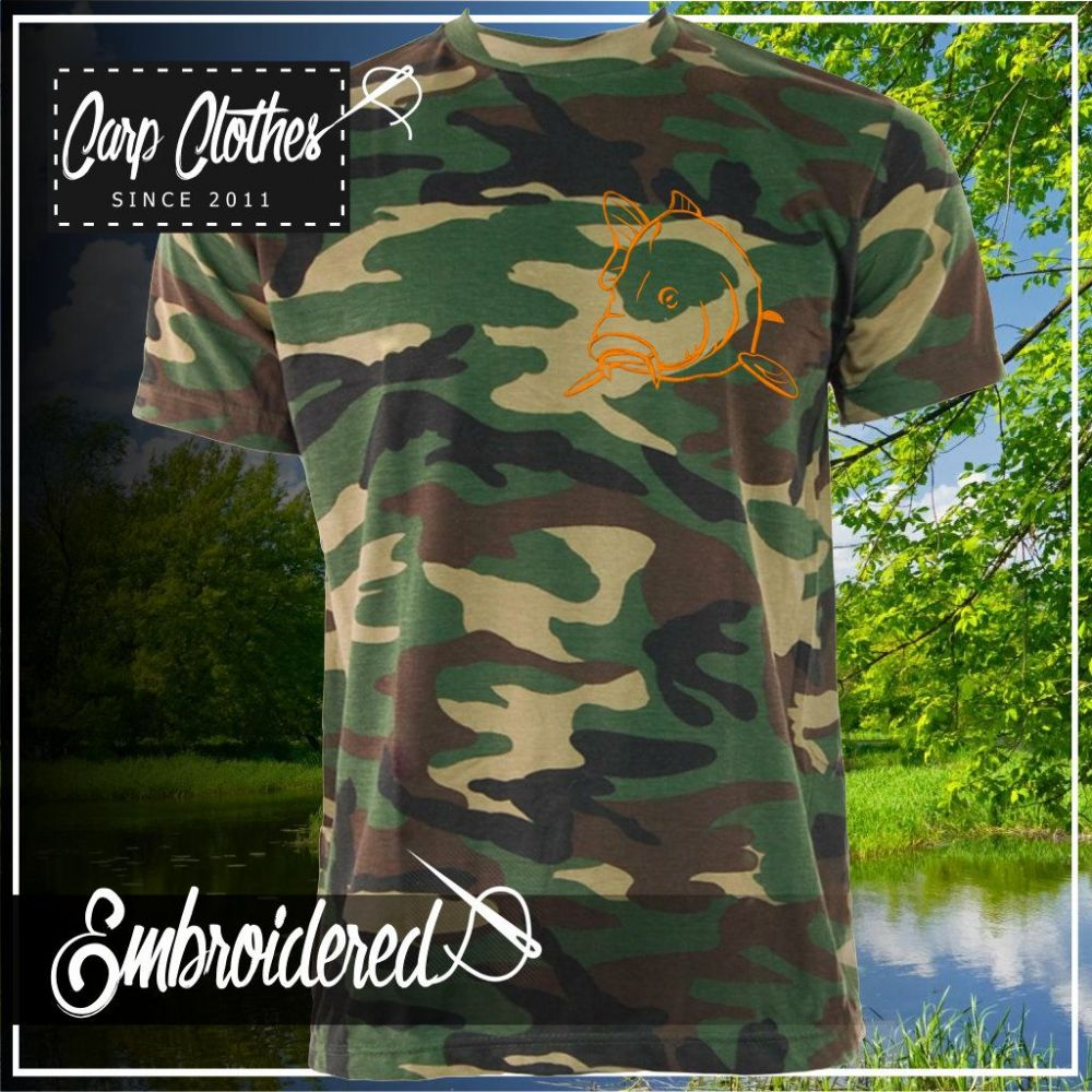 004 EMBROIDERED CAMO T SHIRT